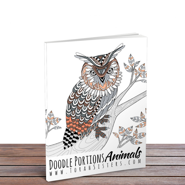 Doodle Portions Animal Coloring Book | Land of Honey