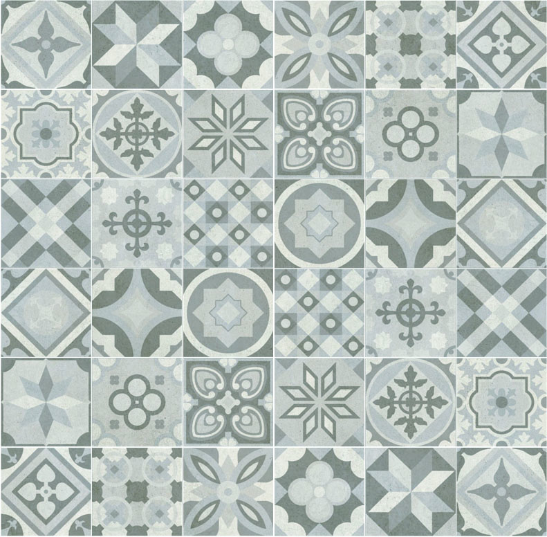 Seamless Patchwork Pattern Tiles With Maps Texturise