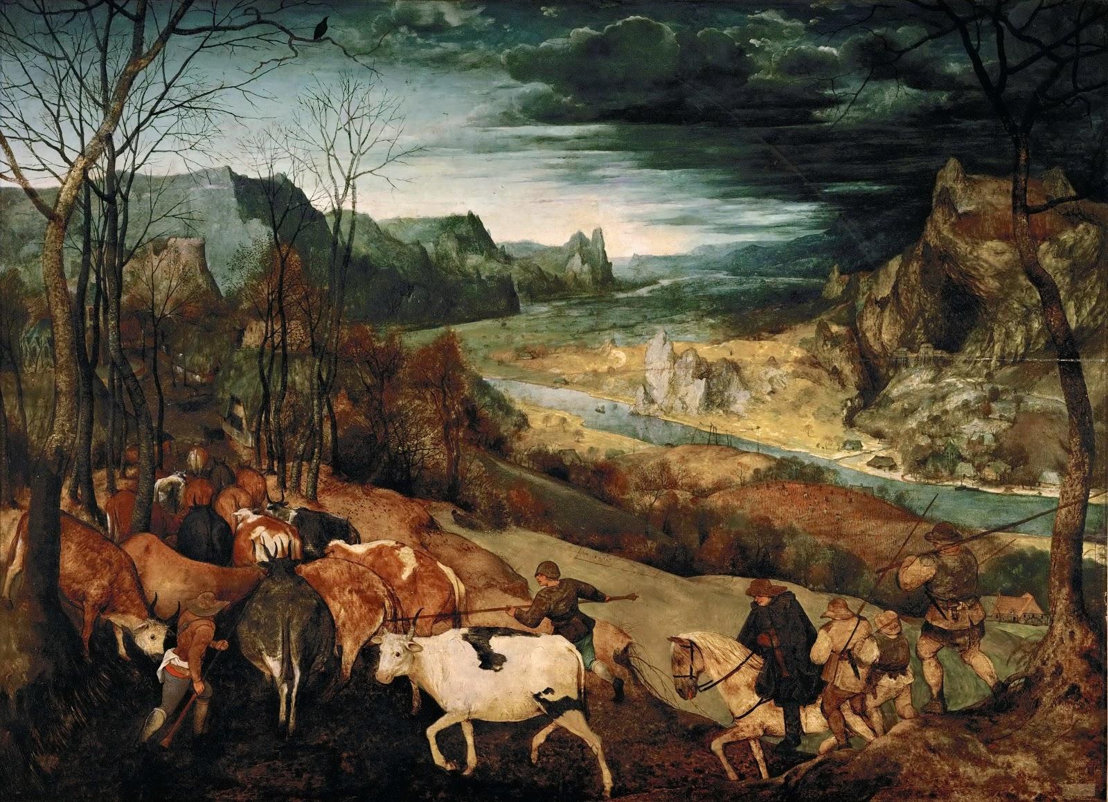 ピーテル・ブリューゲルの牛群の帰り/連作月暦画の十月と十一月