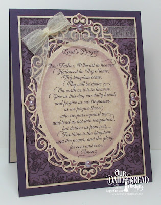 ODBD For Thine is the Kingdom, ODBD Ornate Background, ODBD Custom Ornate Ovals Dies, ODBD Custom Pierced Rectangles Dies, Card Designer Angie Crockett