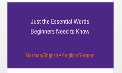 قاموس الماني - انجليزي و العكس  مفردات أساسية التي يجب معرفتها  مع أمثلة للكلمة في اللغتين الانجليزية و الألمانية.  German Englisch - Essential words