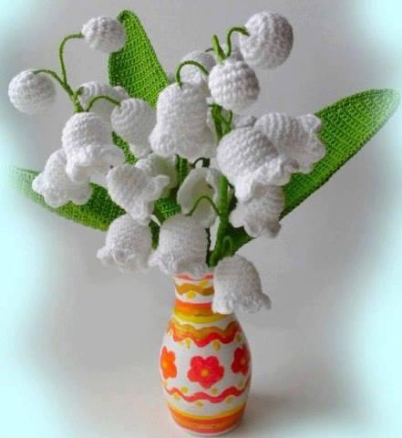 Patrón #1303: Flores a Crochet
