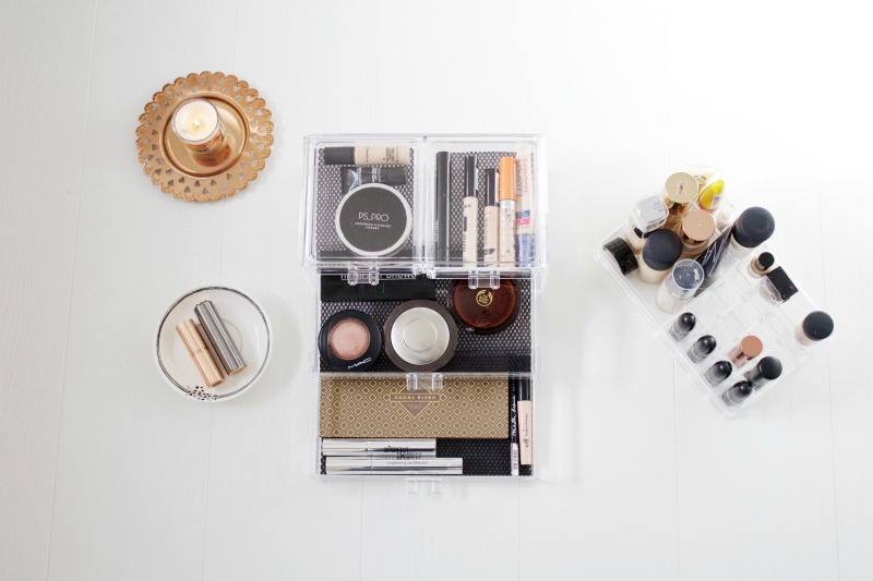 How to organise acrylic makeup storage
