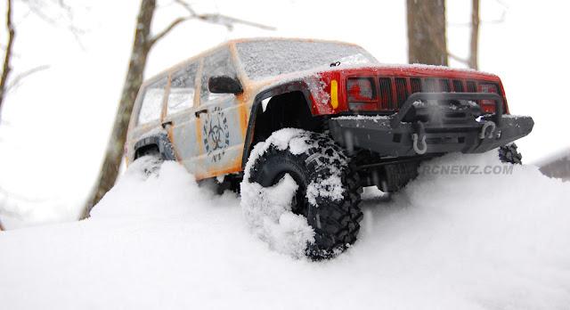 Traxxas TRX-4 snow crawling