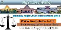 Bombay High Court Recruitment 2018 – 8921 Stenographer, Junior Clerk