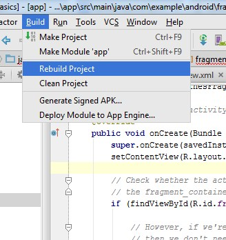 Cara mengatasi Masalah 'cannot resolve symbol R' di Android Studio