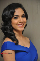 Actress Ritu Varma Pos in Blue Short Dress at Keshava Telugu Movie Audio Launch .COM 0043.jpg