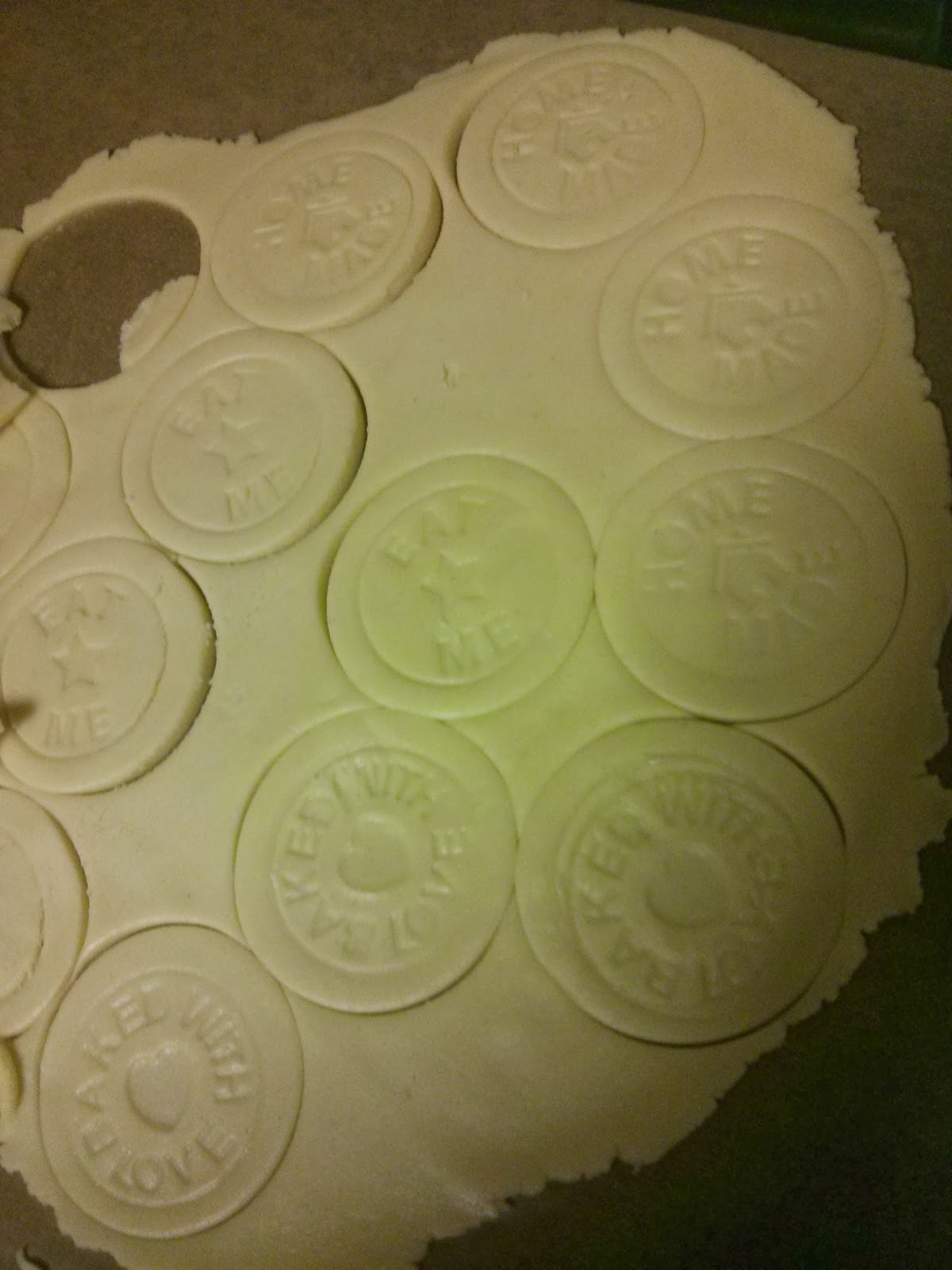 Biscuits stamped with the Wilko Vintage Floral Cookie Press