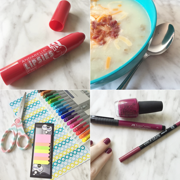 annabelle, makeup, canada, potato soup, target, chapters, staedtler pens, mufe, opi, berry, bbloggers, bbloggersca
