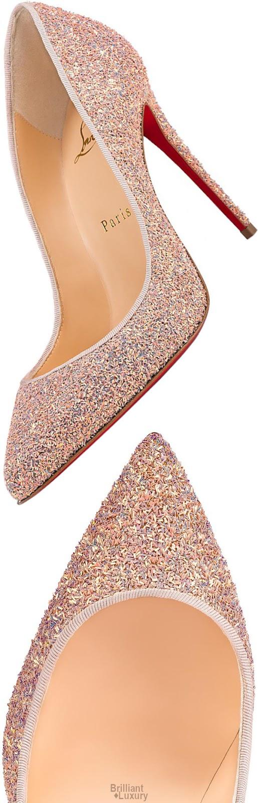 Brilliant Luxury♦Christian Louboutin Pigalle Follies Glitter Krypton Pump