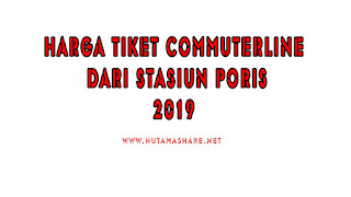 Harga Tiket Commuterline Dari Stasiun Poris Terbaru 2019