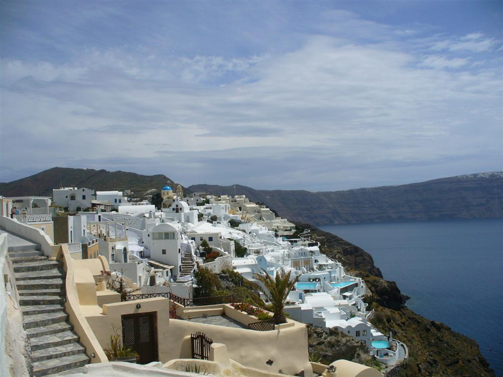 Santorini - Greece city sea view