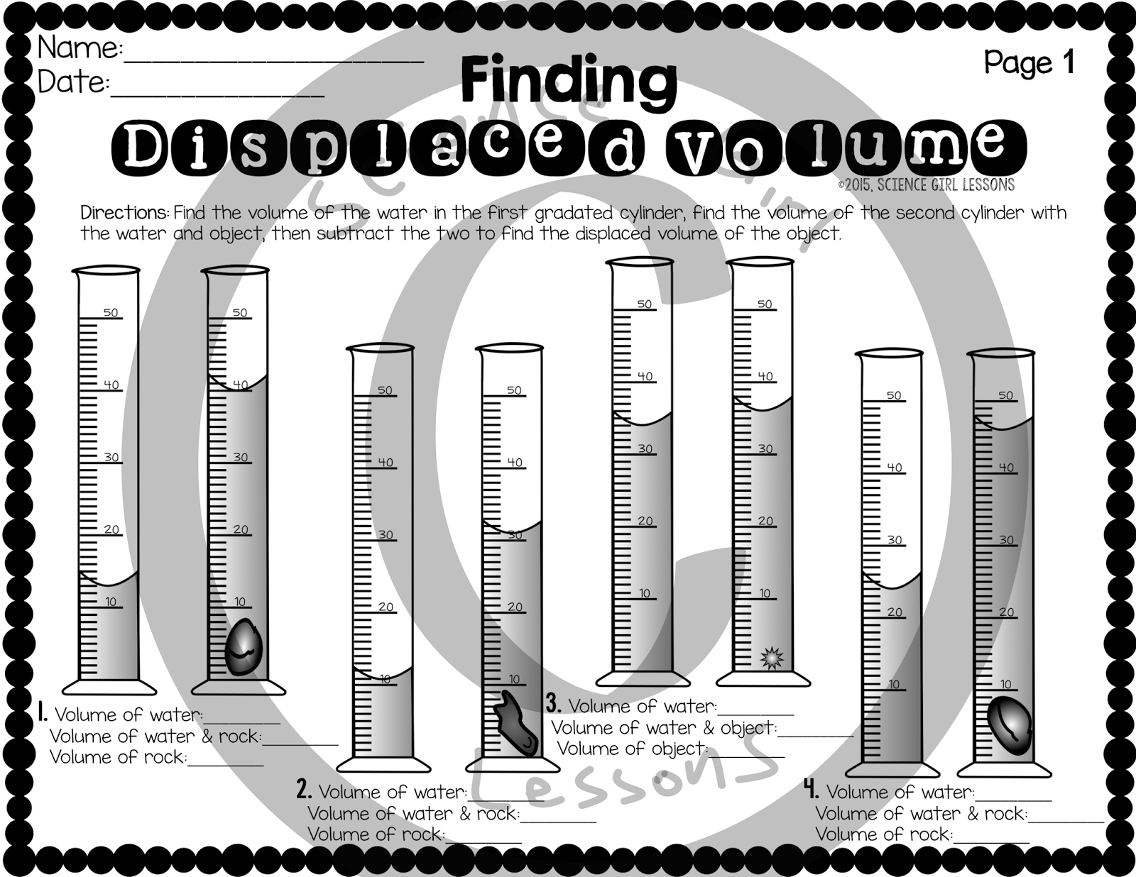 The Best of Teacher Entrepreneurs: FREE SCIENCE LESSON- \Finding Displaced  Volume\ [ 1236 x 1600 Pixel ]