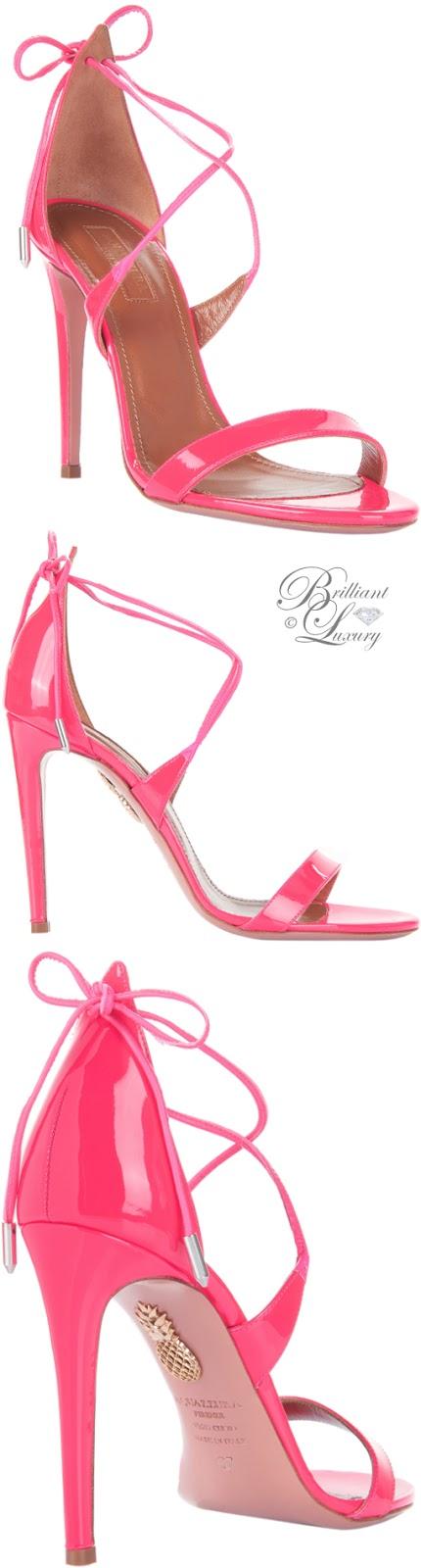 Brilliant Luxury ♦ Aquazzura Linda Sandals
