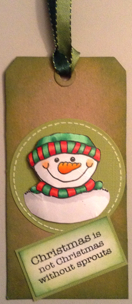 Jolly Snowman Christmas Tag