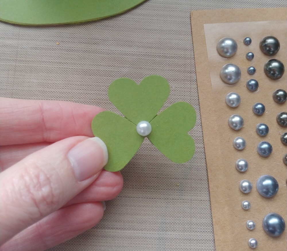 clovers from paper hearts
