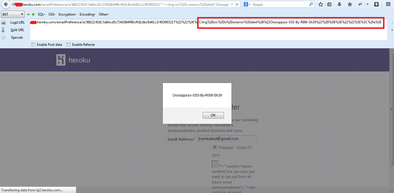 Onclick Xss