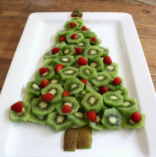 Christmas Tree Fruit.Desire Empire Kiwi Fruit And Strawberry Christmas Tree Platter