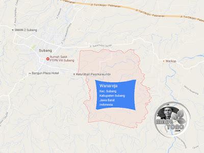 PETA Kelurahan Wanareja, Kecamatan Subang