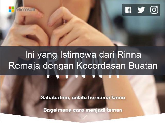 Ini yang Istimewa dari Rinna, Si Remaja dengan Kecerdasan Buatan (AI)