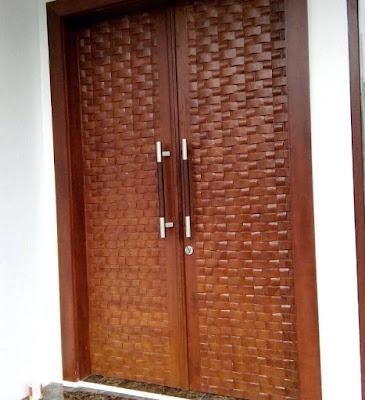 model pintu minimalis 2 pintu modern terbaru