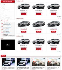 Mẫu blogspot ô tô đẹp responsive mobile