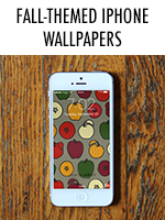 It's autumn & time for some apples, pumpkins, & layers on your phone
