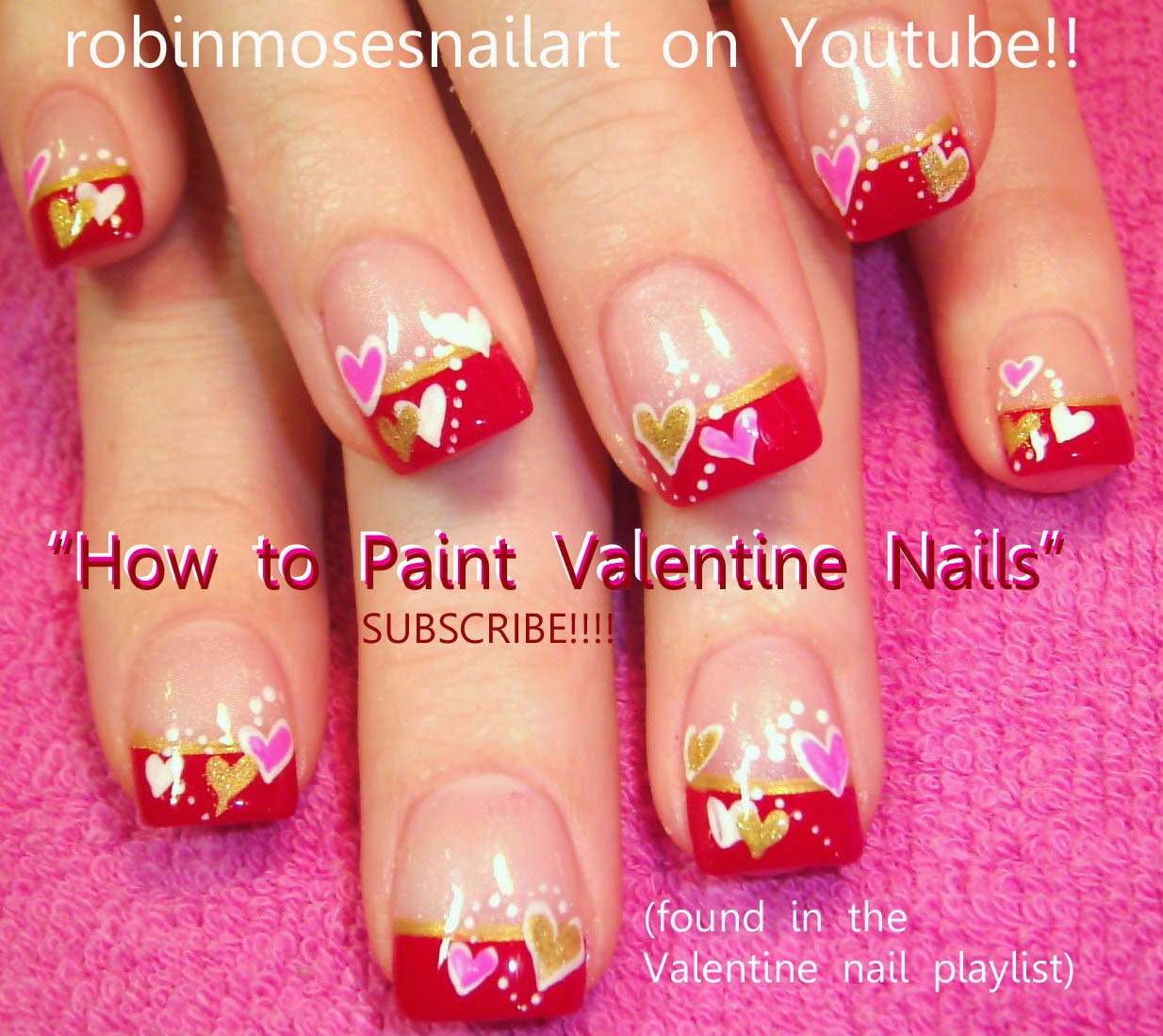 "Robin Moses Nail Art February 2015: Nail Art By Robin Moses: ""Valentine Nails"" ""cute Valentine"
