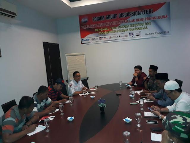 LSM Jari Manis Sulbar Laksanakan Fokus Grup Diskusi dalam rangka mengawal hasil Pilkada Serentak 2018 Polman dan Mamasa, Klik dan Baca Berita Selengkapnya.