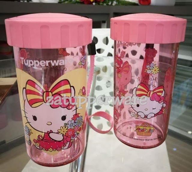 Tupperware Spring Time Kitty Flask (1) 310ml each