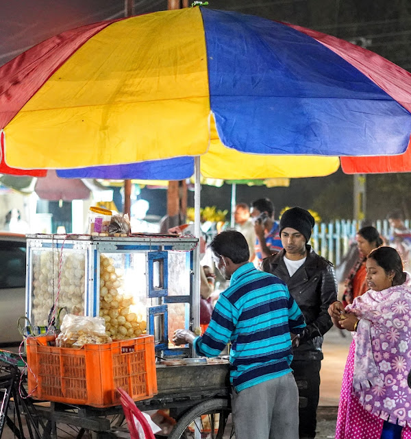 Sourajit Saha at Fuchka Stall