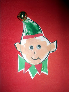 Christmas Elf Craft; Handprint Elf Craft