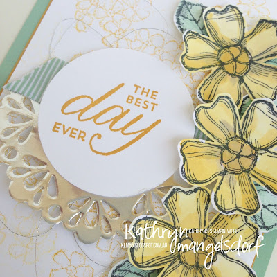 Stampin' Up! Onstage Display Stampers:  Birthday Blossoms created by Kathryn Mangelsdorf
