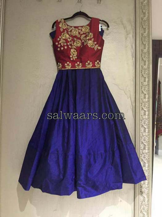 Blue and Maroon Designer Salwar