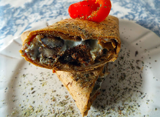 Black Bean Burger Burrito