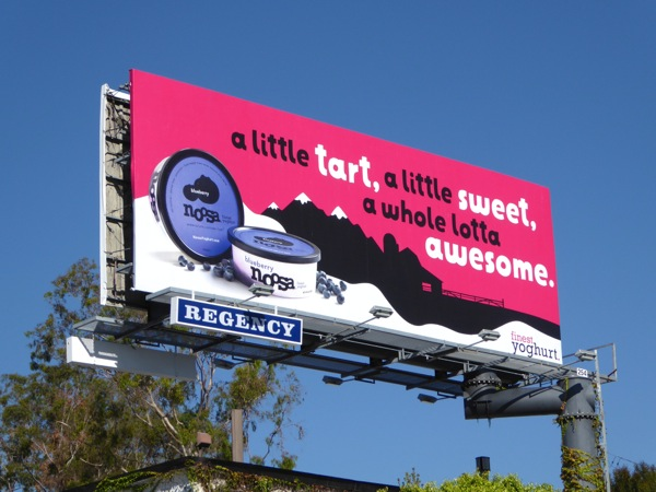 Blueberry Noosa yogurt billboard