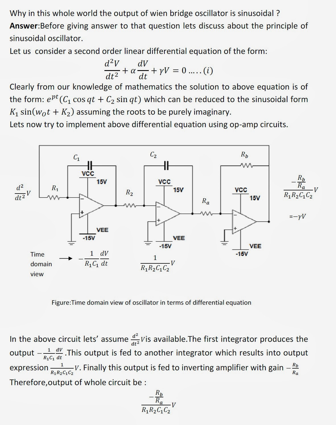 Why In This Whole World Output Of Wien Bridge Oscillator Is Rc And Circuit Oscillatorcircuit Sinusoidal
