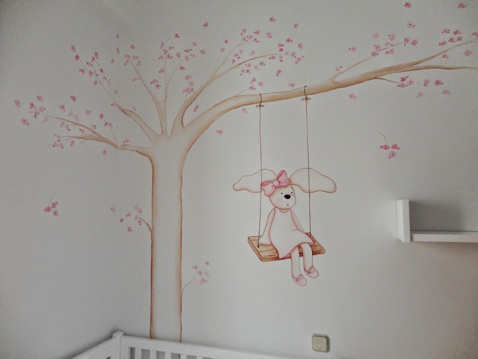 Decopared murales de arboles para bebes - Murales para ninas ...