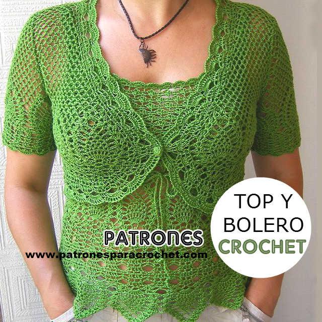 moldes y patrones top crochet