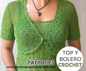 Top y Bolero para tejer al Crochet