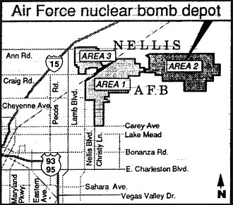 Air Force Nuclear Bomb Depot (Area 2) at Nellis AFB