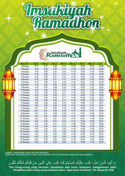 Bingkai Jadwal Imsakiyah Ramadhan Vector Free   Design Corel