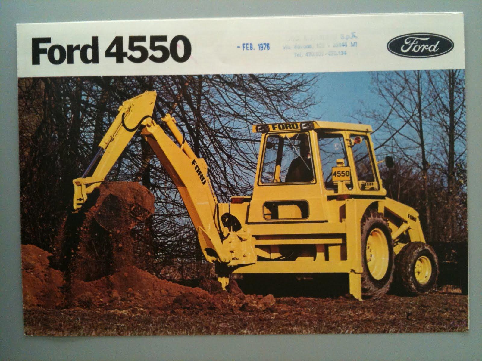 Earthmoving Machinery Sales Brochures Ford Backhoe 4550 border=