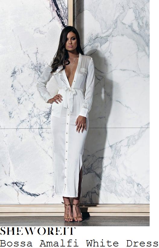 chloe-sims-bossa-amalfi-white-and-gold-button-up-shirt-maxi-dress