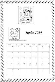 Calendário junho 2014
