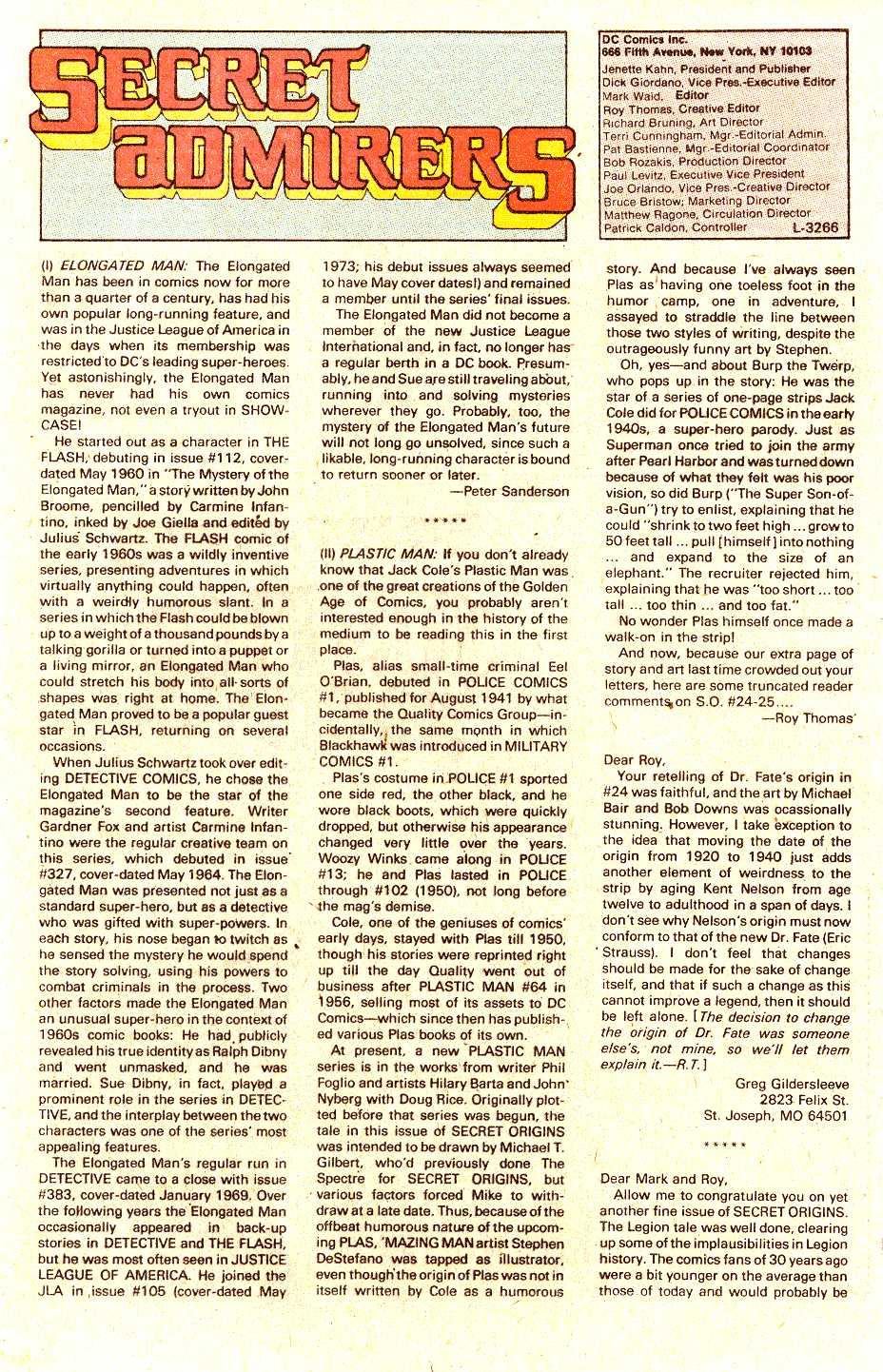 Read online Secret Origins (1986) comic -  Issue #30 - 42