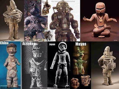 Many examples of ancient astronauts.