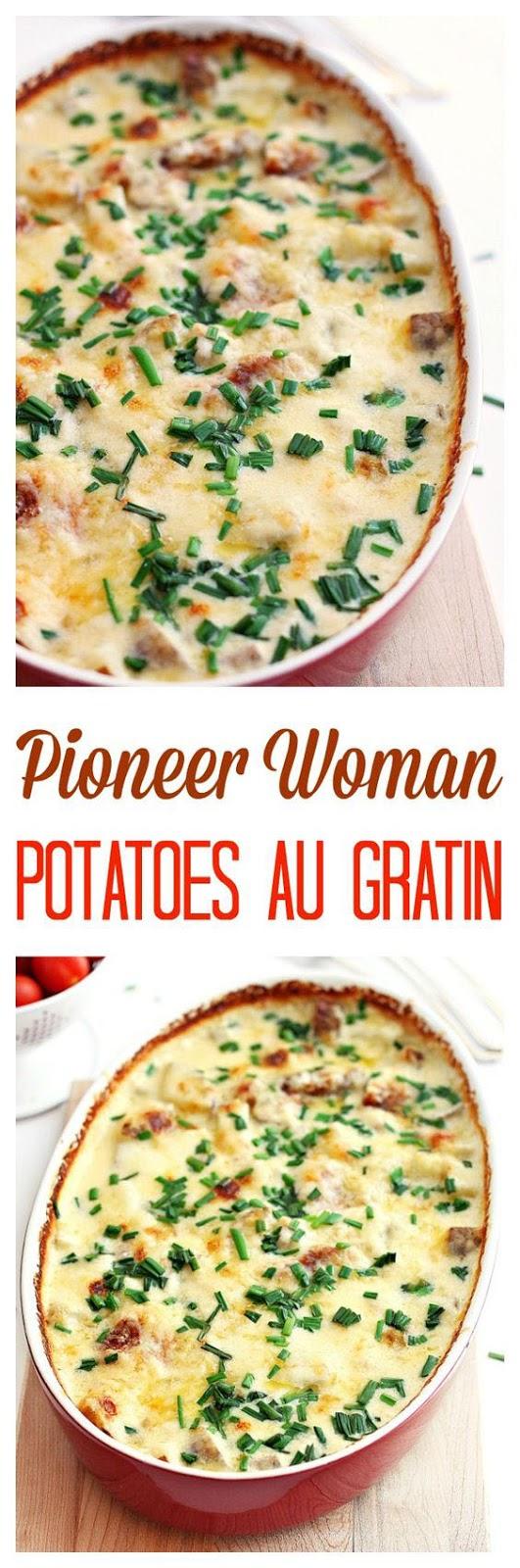 Pioneer Woman's potatoes au gratin