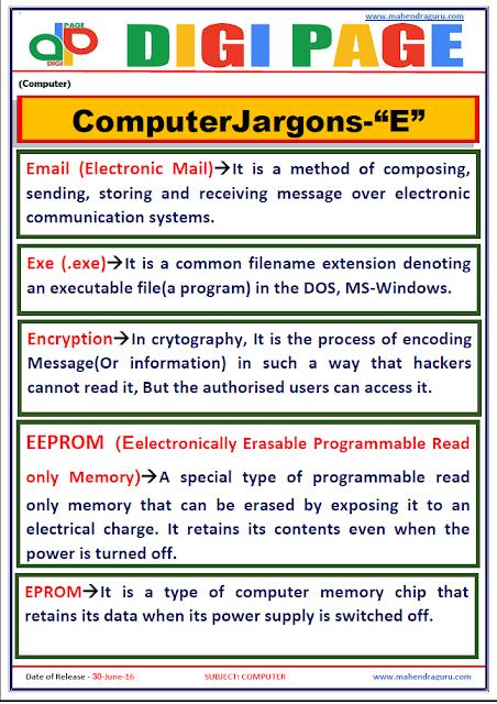 Digi Page-Computer Jargons