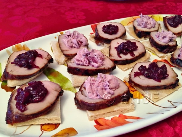 Hoisin Pork with Blackberry Chutney